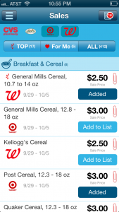 Favado App Cereal Comparison